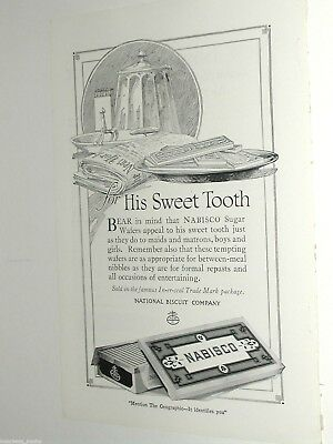 1920 NABISCO advertisement page, National Biscuit Co., Sugar Wafers