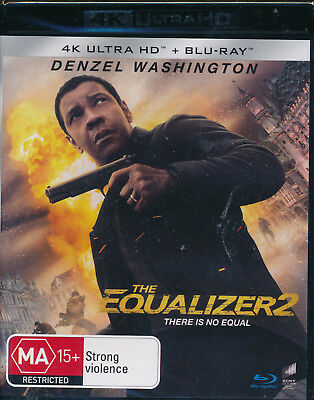 The Equalizer 2 4K Ultra HD Blu-ray Digital Download UHD NEW Region B