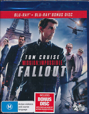 Mission Impossible Fallout Blu-ray NEW Region B Tom Cruise