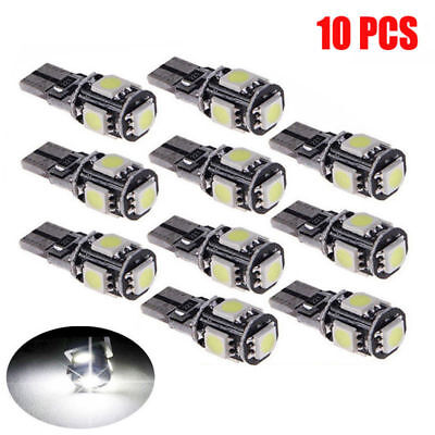 10X T10 White Car Bulb Led Error Free Canbus 5 Smd Xenon W5W 501 Side Light Bulb