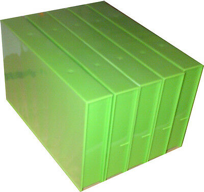 5 Empty Vhs Green Video Tape Cases