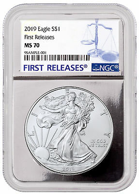 2019 1 oz. American Silver Eagle NGC MS70 FR Silver Core Holder SKU55794