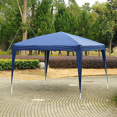 Outsunny 3 x 3m Garden Pop Up Gazebo Marquee Party Tent Wedding Canopy Blue