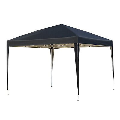 Outsunny 3 x 3m Garden Pop Up Gazebo Marquee Party Tent Wedding Canopy Black