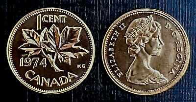 Canada 1974 Proof Like Gem UNC Small Cent Penny!!