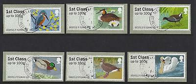 Great Britain 2011 Post And Go Birds Iii Set Of 6 Fine Used