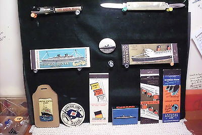 Assortment of 15 small steamship collectibles..BARGAIN !!