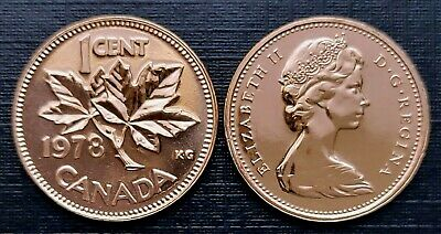 Canada 1978 Proof Like UNC Small Cent Penny!!