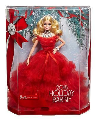 Barbie 2018 Holiday Doll [Toys Mattel 30th Anniversary Christmas Edition] NEW