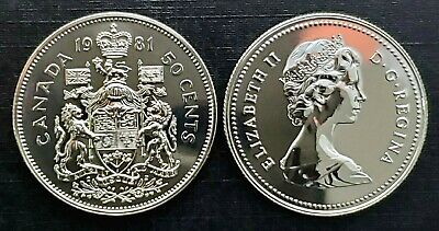 Canada 1981 Proof Like Fifty Cent Piece!!