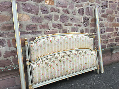 22121 King size ANTIQUE FRENCH Louis XVI Upholstered BED