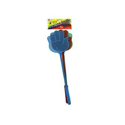 3 Pack fly swatters -assorted colors - Pack of 72