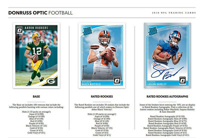 2018 Donruss Optic Football Hobby Pick Your Player (Pyp) 1 Box Break