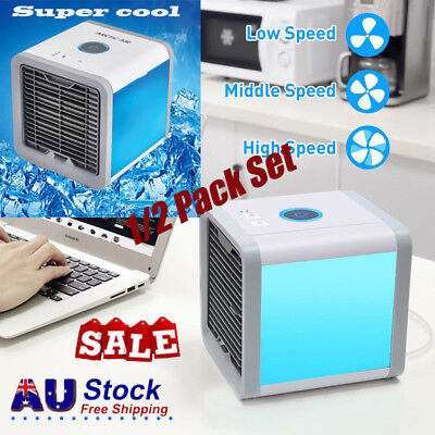 Portable Mini Air Conditioner Cooler Fan Ice Water USB Rechargeable Cooling Tool