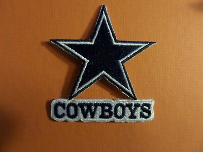 DALLAS COWBOYS NFL EMBROIDERED IRON ON 2-3/4 X 3 PATCH k@@l