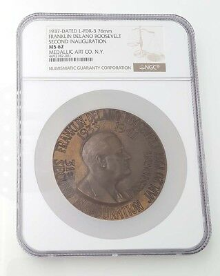 1937 Rare Franklin D. Roosevelt Official Inaugural Medal