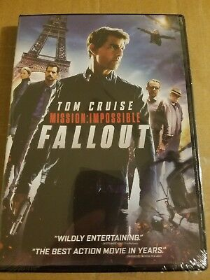 DVD - Mission Impossible Fallout - 2018 brand new Tom Cruise