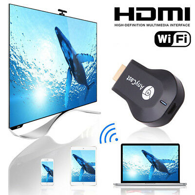 WiFi HDMI Anycast Miracast Airplay TV 1080P Wireless Display DLNA Adapter Bland