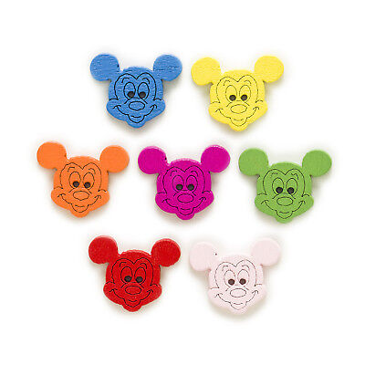50pcs 2 Hole Mouse Wood Buttons Decor Sewing Scrapbooking Clothing Home 19x15mm