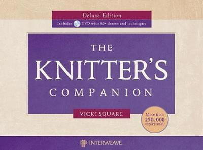 The Knitter's Companion [With 2 DVDs] by Vicki Square (English) Spiral Book Free