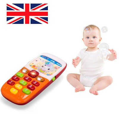 Baby Kids Musical Phone Smartphone Toddler Sound Hearing Educate Learning Toy