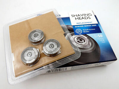 New 3x Shaver Razor Blade FOR Philips Norelco SH50/52 PT/AT 7XX&8XX Series 5000