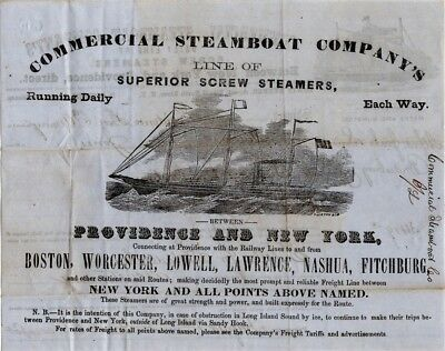 1862, Providence Tool and Armory, full engraved shipping invoice, Bridesburg