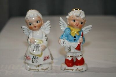 Vintage Artmark January Angle Salt Pepper New Year's Eve