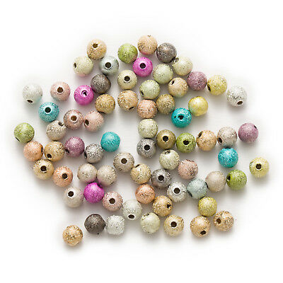 Random Mixed Stardust Acrylic Round Matte Spacer Beads Jewelry Making 4-16mm