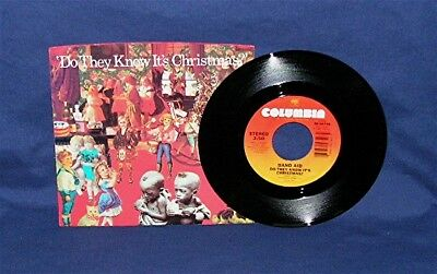 BAND AID  Do They Know It's Christmas?  45 RPM w/PS  COLUMBIA 04749  NM/UNPLAYED