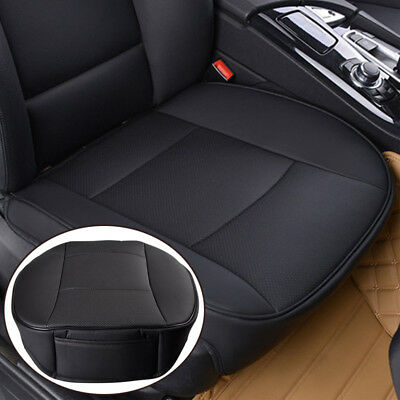 PU Leather Universal Deluxe Car Cover Seat Protector Cushion Black Front Cover