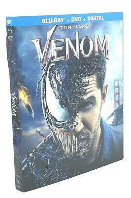 Venom (Blu-ray+DVD+Digital; 2018) NEW with Slipcover