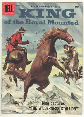 1957 KING OF THE ROYAL MOUNTED #24 comic book with great painted cover. FINE