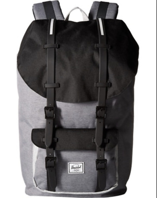196176be25c Herschel Supply Co. Little America Backpack Back Pack Mid Grey Crosshatch  Black