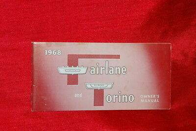 Vintage & Original 1968 Fairlane And Torino Owners Manual/ Owners Guide, Red