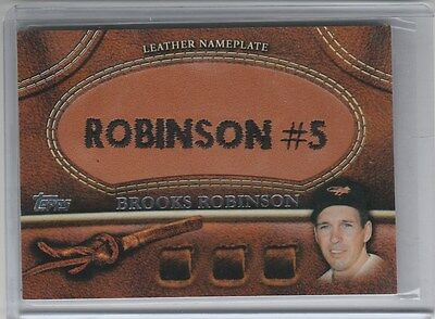 Brooks Robinson Leather Nameplate 2011 Topps Orioles