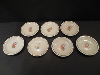 "Lot Of 7 Vintage Butter Pats 3.25"" China Mini Plates Floral Spray Flowers"