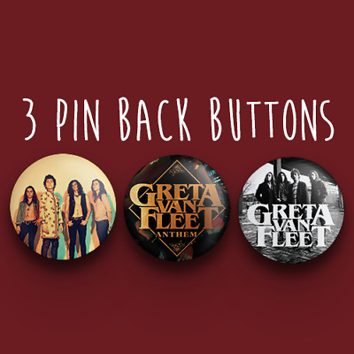 Greta Van Fleet Button Pack - Anthem of a Peace Full Army 1.25 inches (31.75mm)