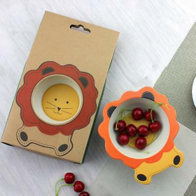 Cute Baby Bowl Infant & Toddler Weaning Dish for Self-feeding Kids Tableware LC