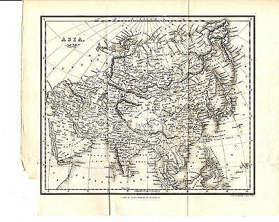 Antique Alexander George Findlay Map Of Africa - Steel-Engraved (1863)