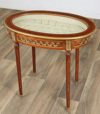 LOUIS-XV-STIL TISCHVITRINE, ZIERTISCH MÖBEL - FRENCH VITRINE TABLE oval shaped