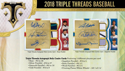 2018 Topps Triple Threads Baseball Live Pick Your Player (Pyp) 1 Box Break