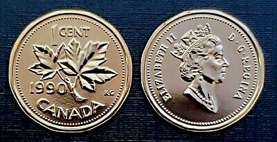Canada 1990 Proof Like UNC Small Cent Penny!!