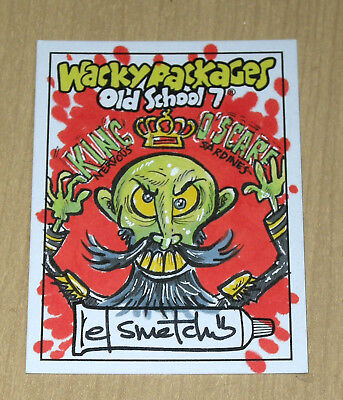 2018 Topps Wacky Packages Old School 7 sketch card Smetchy KING O'SCARE