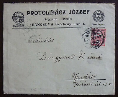 AUSTRIA - HUNGARY - JUDAICA - EARLY ADVERTISING COVER R! ungarn oesterrich J2