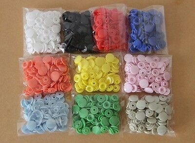Lot 500Sets KAM T5 Size 20 Resin Snaps Buttons For Baby Clothes Diaper Craft