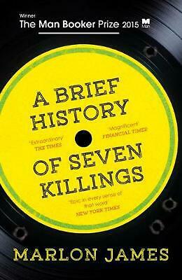 A Brief History of Seven Killings by Marlon James Paperback Book Free Shipping!
