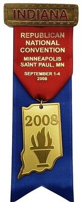 2008 Republican National Convention Indiana Badge