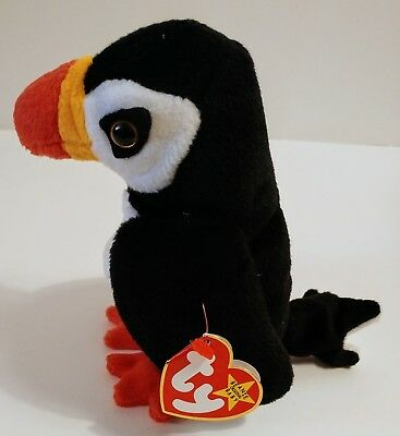RETIRED TY BEANIE Baby Puffer New with Tags with Errors -  850.00 ... ada20a7bad71