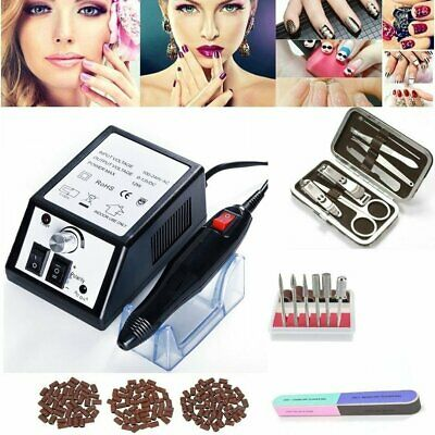 Electric Nail Drill Manicure File Nail Toe Beauty Acrylic Salon Tool Pedicure